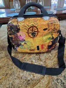 Heys Makeup Case Carry on Travel Luggage Hardshell Milano Bag Retired Pattern