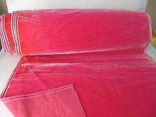 Antique velvet fabric France Victorian cotton silk Rose pink