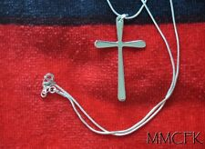 Buffy Pewter Vampire Cross 925 Sterling Silver Cross Pendant and 18 inches Chain