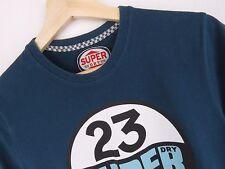 R802 Superdry Camiseta Vintage Original PREMIUM AZUL MARINO Talla S