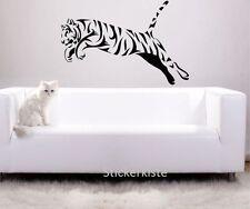 Tiger in the Jump Wall Tattoo Wallpaper Wall Decoration 70 x 80 cm