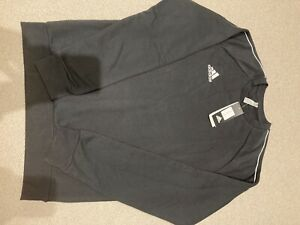 adidas black sweatshirt, mens medium