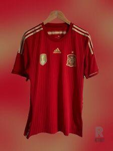 Spain Home Shirt   Adidas  2014-2015   L  
