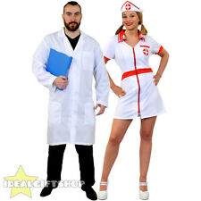 COUPLES DOCTOR AND NURSE FANCY DRESS COSTUMES HOSPITAL UNIFORM MEDICAL HALLOWEEN
