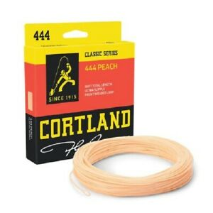 NEW Cortland 444 Classic Peach Trout Fly Fishing Floating Line 1st Sign/For Post