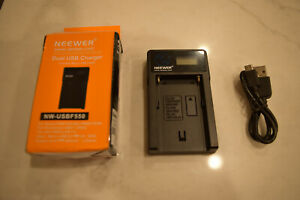 Neewer NW-USBF550 Charger for Sony F550/750/960 FM50/60/70 Panasonic VBD1, VBD2,