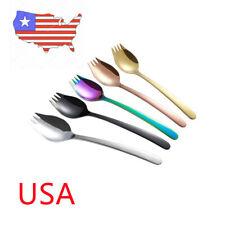 2 In 1 Spork Soup Tableware Set Salad Noodle Cutlery Tool Fork Spoon Trendy