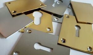 ESCUTCHEON REPAIR PLATE - 45 x 65MM - EASY FIT! FITS EURO PROFILE CYLINDERS