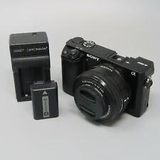 Sony Alpha A6000 24.3MP Digital Camerawith 16-50mm Lens - 601 Clicks!