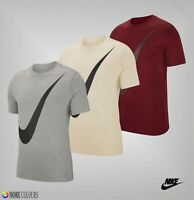 Mens Nike Soft Short Sleeves Crew Neck Large Swoosh T Shirt Sizes from S to XXL