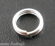 Lots 80-300Pcs Double Split Jump Ring Connectors Link Open DIY Finding 4-14mm
