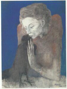 C3729 Picasso - The Femme à The Corneille - 1988 Print Period - Vintage Print