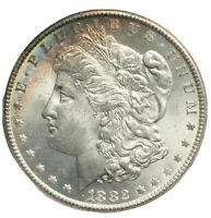 1882-Carson City $1 Morgan Silver Dollar TASTE THE 🌈RAINBOW BRITE!🌈 NGC MS64