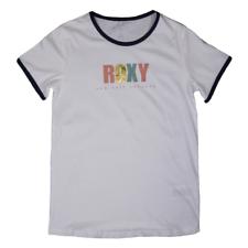 Roxy Girl's Off White Sea Salt Society S/S T-Shirt (S02)