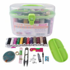 Sewing Kit Thread Threader Needle Tape Measure Scissor Thimble Box Bag New