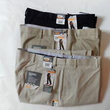 01850a2a93 Savane Mens Classic Flat Front Khaki Pant Big & Tall Straight Leg Waist  44-50