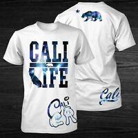 Proud by JCM California Space Cali Life Men's T-Shirt Cali Bear Guy's T Shirt