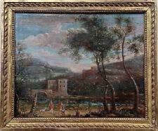 Tableau ancien 18eme, huile sur toile, école italienne