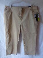 Style & Co Women's Beige Khaki Tummy Control Capri Pants Size 22W NWT