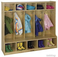 Kids Coat Shoe Locker Bench Pre School Class Room Cubby Day Care Children Rack