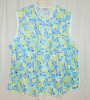Anthony Richards Cobbler Apron Blue Floral Sleeveless Snap-Front Pockets 5X New