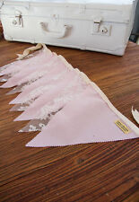 2m Handmade Bunting Flags Pink and Lace - Party Wedding Child Bedroom Decor