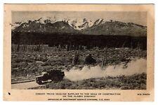 U.S. Army Convoy Truck Hauling Supplies Alaska Highway YUKON 1942 WW2 Postcard