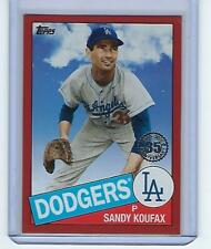 2020 Topps '85 Topps Red Sandy Koufax 85-55 Los Angeles Dodgers 6 out of 10