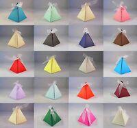 Pyramid Wedding Favour Boxes - Choose Colour - Choose QTY - SC19, 10, 50, 100