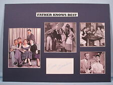 """Robert Young - """"Father Knows Best"""" signed by Elinor Donahue aka """"Betty Anderson"""""""