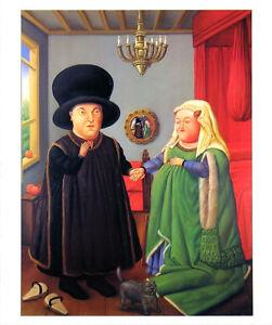 The Arnolfini after van Eyck - Fernando Botero Art Print 1999 Latin Poster 19x23