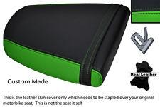 GREEN & BLACK CUSTOM FITS TRIUMPH SPEED TRIPLE 955 i 01-05 REAR SEAT COVER