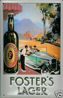 Fosters Coche Letrero de Metal 3D en Relieve Arqueado Tin Sign 20 X 30CM