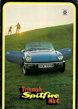 Triumph Spitfire Mk4 1300 1974 Original UK Market Sales Brochure