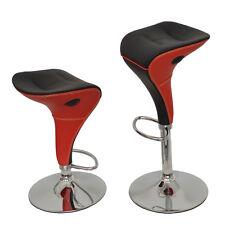 ts-ideen - Taburete de bar con resposapiés, color rojo y cromo