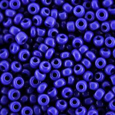 1kg blu opaco foro rotondo vetro SEMI PERLINE dimensione 11/0 2mm