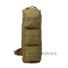 Men's Nylon Tactical Hiking Messenger Back Pack Airborne Pouch Molle Chest Bag