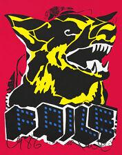 FAILE Dog Black Light 2015 print poster Brooklyn NYC German shepherd iconic art