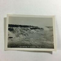 "VINTAGE 1940s Mini Photograph Souvenir 3.5X2"" Niagara Gorge Ice Bridge"