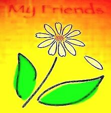 Scrapbook 24 Thick pgs Frt/Bk Titled: My Friends w/ a Daisy on Front & a Saying!