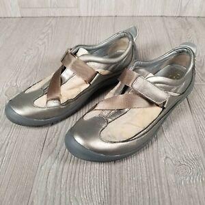 Cole Haan G Series Silver/Bronze Slip On Shoes Hook n Loop Strap Woman Size 7.5B