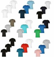 3 Pack Mens Plain 100% Cotton V Neck T Shirt Tee Vest Top S M L XL 2XL 3XL 4XL