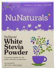 NuNaturals NuStevia-Blanco Stevia en polvo - 100 paquetes-Edulcorante Natural