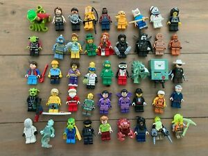 Lot of 45 LEGO Minifigures - CMF Series, Dimensions, Aliens, Monsters,...