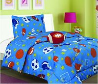 SPORTS BOYS CHIC COLLECTION COMFORTER SET WITH FREE TOYS TWIN