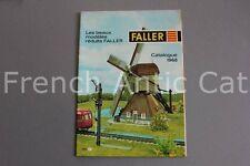E660 Catalogue Train maquette Ho FALLER 1968 28 pages + plaquette AUTO sport