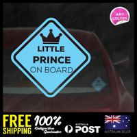 Little Prince on Board 131x131mm Window Funny Decal Vinyl Sticker Baby Boy