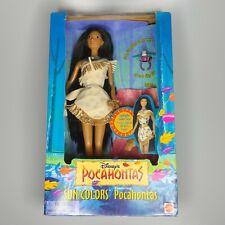"""1995 Mattel Disney Pocahontas Sun Colors """"Barbie"""" W/ Bird Ring Vintage Authentic"""