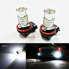 2x White H11 H8 15w High Power Car LED Bulbs 5730 15-SMD Super Bright Fog Light