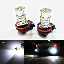 2x White H11 H8 15w High Power Car LED Bulbs 5730 15-SMD Super Bright Fog Light